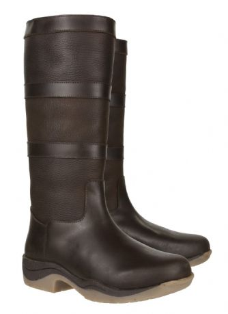 BEWDLEY Waterproof Long Brown Leather Equestrian Country Riding Stable Boots New